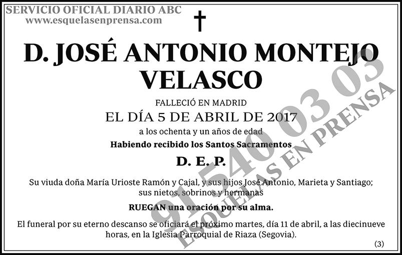 José Antonio Montejo Velasco